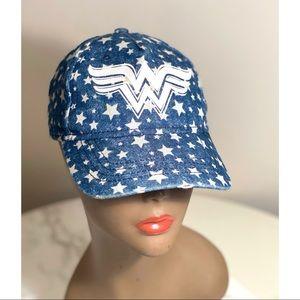 DC SuperGirls WW Wonder Women's Denim Star Cap OS